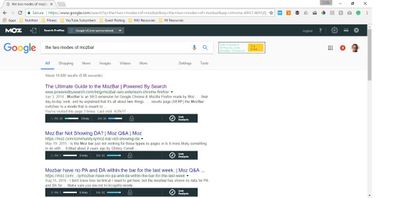 Find better citation links with mozbar domain authority